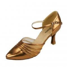 "Stephanie Ladies Bronze Leather 2"" Heel Ballroom Shoes"