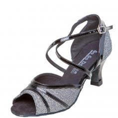 "GOGO Ladies 2.5"" Heel Leather Latin and Ballroom Shoes"