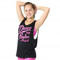 "Trendy Trends ""Dance with Passion"" Twist Back Tank"