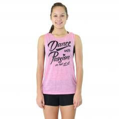 "Trendy Trends ""Dance with Passion\"" Twist Back Tank"
