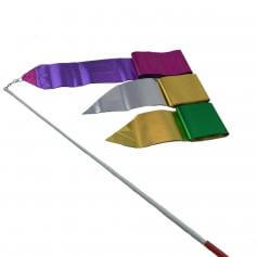 Bi-color Metallic Streamer with Rod