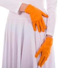Adult Orange Color Flash Mime Gloves
