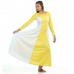 Danzcue Yellow Color Block Praise Dress