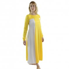 Yellow Color Block Praise Dress