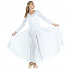 Danzcue Praise Full Length Long Sleeve Dance Dress [WSD102]