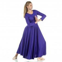 dab845985 Danzcue Praise Full Length Long Sleeve Dance Dress  WSD102  - Danzcue