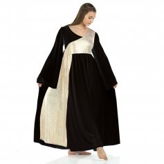 Danzcue Praise Dance Shimmery Asymmetrical Bell Sleeve Dress