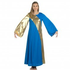 Danzcue Praise Dance Asymmetrical Bell Sleeve Dress