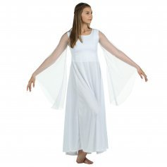 Danzcue Praise Dance Princess Angel Sleeve Dress