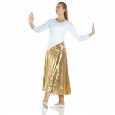 Danzcue Bi Color Long Sleeve Ministry Dance Dress