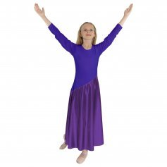 Danzcue Child Bi Color Long Sleeve Dance Dress