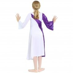 Danzcue Asymmetrical Bell Sleeve Child Dance Dress