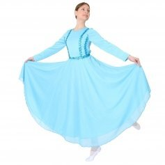 Danzcue Full Length Vivid Chiffon Dress
