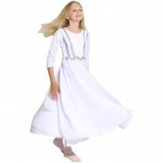 Danzcue Child Praise Dance Full Length Vivid Chiffon Dress