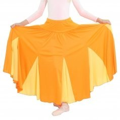 Danzcue Child Orange Circle Chiffon Dance Skirt