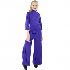 Danzcue Child Long Sleeve Turtleneck Jumpsuit