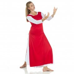 Tunic Worship Dance with Side Slits (white dress not included)