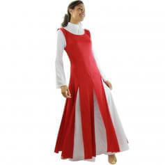 Danzcue Paneled Tunic (white dress not included)