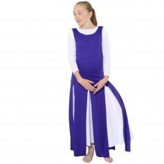 Danzcue Child Paneled Tunic (white dress not included)