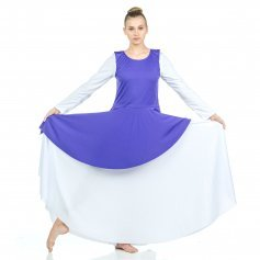 Danzcue Asymmetrical Praise Dance Tunic with Side Slits